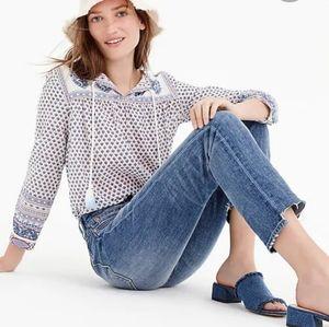 Point Sur peasant blouse